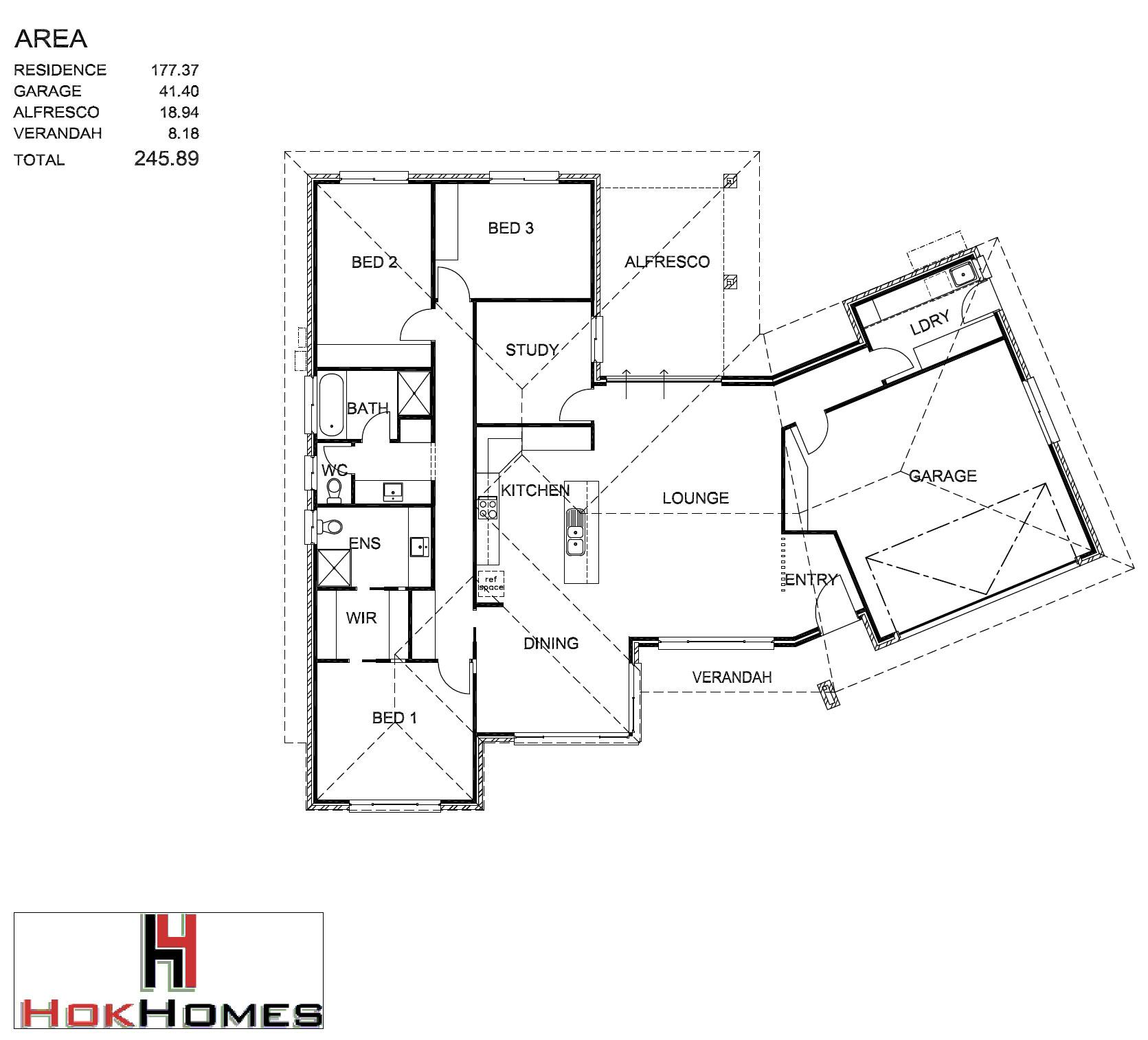5 Emerald Drive, Mount Gambier through Hok Homes - Floor plan